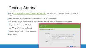 developer android sdk index html android development basics ppt