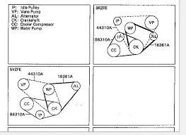 3 4 drive belt diagram help yotatech forums