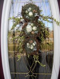 teardrop vertical door swag wreath decor springalicious