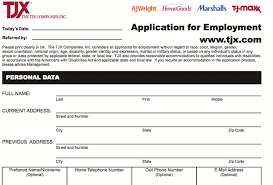 tj maxx application online job employment form