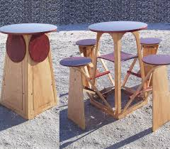 Fold Up Bar Stool This May Be The World U0027s Coolest Collapsible Four Person Table With
