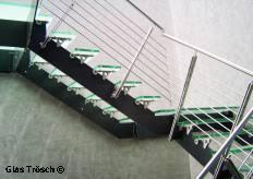 kohler treppen glastreppe mit edelstahlgeländer design modellreihe
