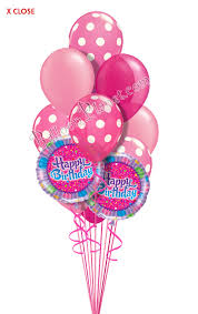 mylar balloon bouquet dots in pink birthday balloon bouquet 14 balloons balloon