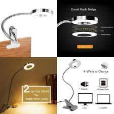 clip on reading light for bed small led clip on desk l bed reading light flexible cl usb
