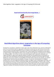 what algorithms want by dsadssqa issuu
