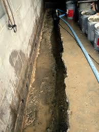 interior basement drainage system drainage u0026 waterproofing