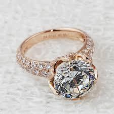 wedding rings pave images Luxury 4 carat 10mm sona lab gem rings rose gold color engagement jpg
