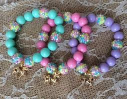 party favor bracelets set of 6 unicorn party favor bracelet unicorn charm bracelet