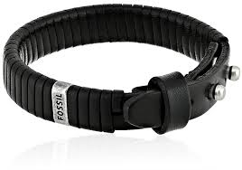 fossil bracelet men images Fossil men 39 s black leather bracelet jewelry jpg