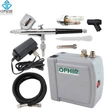 Airbrush System For Cake Decorating Ophir Airbrush Kit With Air Compressor Dual Action Airbrush Set