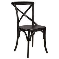 chaise bistrot chaise de salle à manger en bouleau massif noir classique