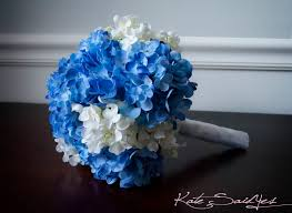 blue wedding bouquets wedding bouquet blue and white hydrangea bridal bouquet