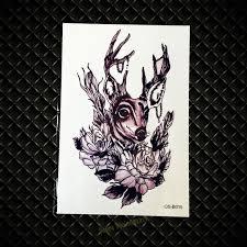 aliexpress com buy 1pc reindeer fake tattoo waterproof temporary