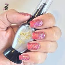 abstract rose nails the crafty ninja