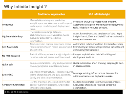 sap infinite insight u2013 introduction and overview future plans and