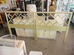 Antique Twin Headboards by Faux Bamboo Chippendale Twin Headboards Circa Who