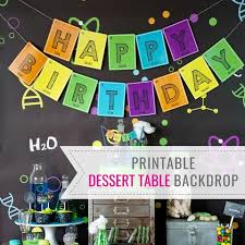 printable kids u0027 birthday party invitations and decorations u2013 page