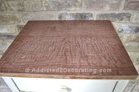 Luan Panels Covered With Decorative Vinyl How To Cover Ugly Laminate With Pretty Wood Veneer