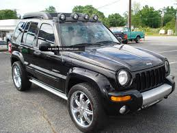 black jeep liberty 2003 jeep liberty renegade lifted image 49