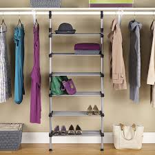 Rubbermaid Closet Helper Amazon Com Whitmor Adjustable 6 Shelf Closet System Home U0026 Kitchen