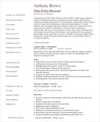 data entry resume 5 free word pdf documents download free