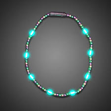 Battery Run Fairy Lights by Battery Operated Light Up Mardi Gras Necklace