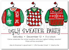 Ugly Christmas Sweater Party Decoration Ideas by Ugly Christmas Sweater Party Invitations Blueklip Com