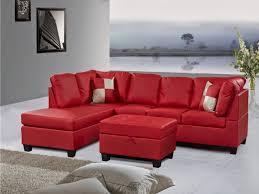 red sectional sofa leather centerfieldbar com