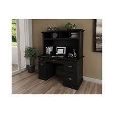 black desk with hutch black computer desk hutch drawers bookcase home office shelves