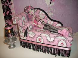 furniture for monster high dolls handmade chaise lounge bed