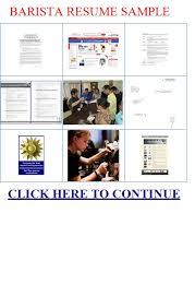 Barista Resume Sample by Barista Resume Sample Barista Resume Sample