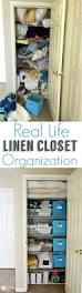 Over The Cabinet Door Basket by 74 Organized Linen Closet Container Store Closet Doors And