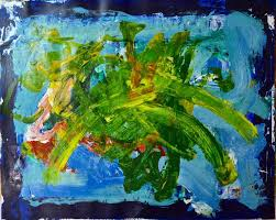 saatchi art artist geoffrey howard painting abstract painting with blue rim