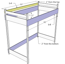 Plans For Making A Loft Bed by Free Loft Bed Plans Full Friendly Woodworking Projects
