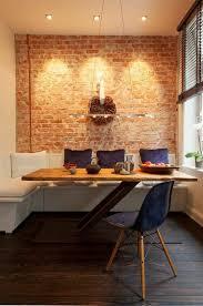 46 original dining room decor ideas with exposed brick wall