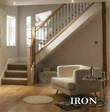Metal Banister Spindles Iron Contemporary Stair Balusters Stylish Modern Stair Balustrade