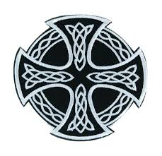 celtic iron cross patch iron on applique alternative clothing sons