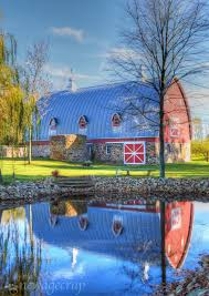 free images barn rustic rural reflection farming scenic