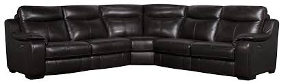 san lorenzo jodi 5 piece power leather match sectional sofa