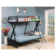 Zazie Kids Futon Bunk Bed Sandy BlackTwinFull Acme  Target - Twin futon bunk bed