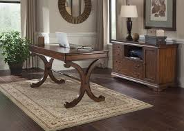 saratoga executive collection manager s desk wood home office fontaine cherry wood home office desk and credenza