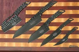 marfione custom borka blades kitchen knives set pvd