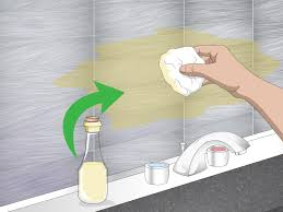 how to degrease backsplash 3 ways to clean a metal backsplash wikihow