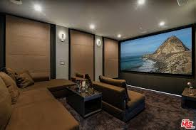 Home Theatre Design Los Angeles Pleasant Double Tier Room Style Home Theater Los Angeles Ca