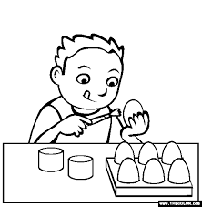 Easter Online Coloring Pages Page 1 Egg Colouring Page