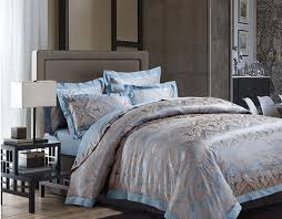 Jacquard Bedding Sets Luxury 4 Jacquard Bedding Sets Simple Blue