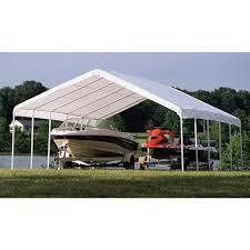 Canopy Storage Shelter by Outdoor Shelterlogic Tractor Supply Portable Garage Temporary