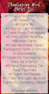 thanksgiving week list the nashville