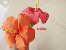 cara membuat bunga dengan kertas hias cara membuat bunga sepatu dari kertas krep youtube