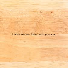 personalised round wooden wedding cutting board by dust and things